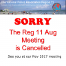 Reg 11 Aug, 2017 Meeting Cancelled